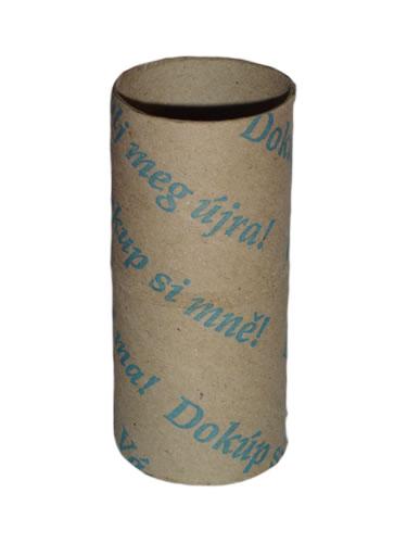 """obrázek: Rulička toaletního papíru snápisem """"Dokup si mně!"""""""